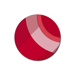 Red Material Design Rubber Coaster (round)