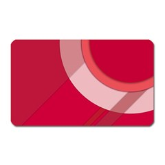 Red Material Design Magnet (Rectangular)