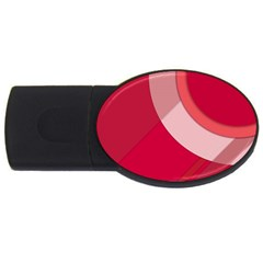 Red Material Design Usb Flash Drive Oval (2 Gb)