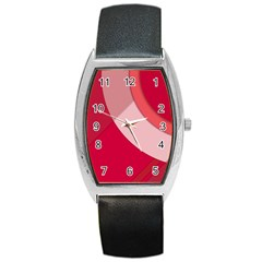 Red Material Design Barrel Style Metal Watch