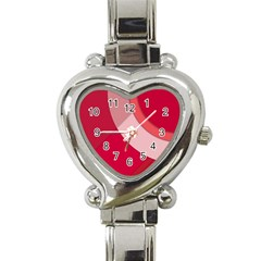 Red Material Design Heart Italian Charm Watch