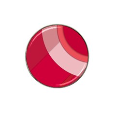 Red Material Design Hat Clip Ball Marker (10 Pack)
