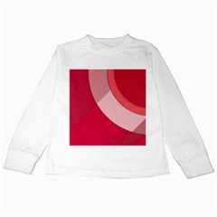Red Material Design Kids Long Sleeve T Shirts