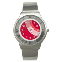 Red Material Design Stainless Steel Watch