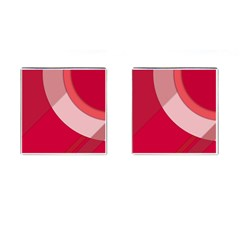 Red Material Design Cufflinks (square)