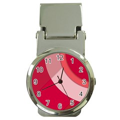 Red Material Design Money Clip Watches