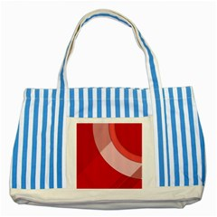 Red Material Design Striped Blue Tote Bag