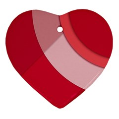 Red Material Design Heart Ornament (two Sides)
