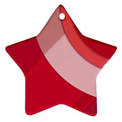Red Material Design Star Ornament (two Sides)