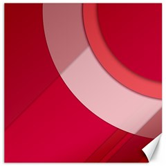 Red Material Design Canvas 16  X 16