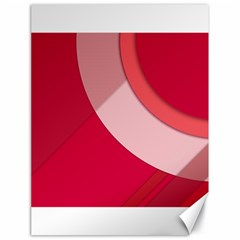 Red Material Design Canvas 18  X 24