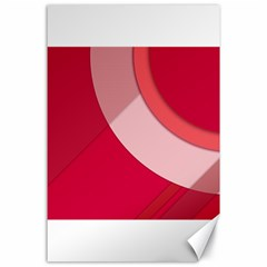 Red Material Design Canvas 24  X 36