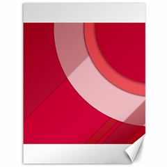 Red Material Design Canvas 36  X 48