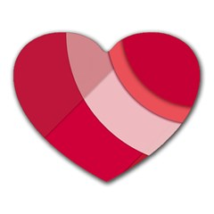 Red Material Design Heart Mousepads