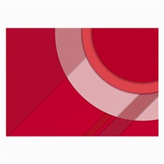 Red Material Design Large Glasses Cloth