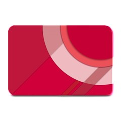 Red Material Design Plate Mats
