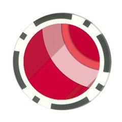Red Material Design Poker Chip Card Guard