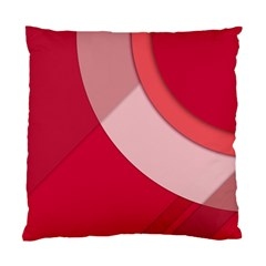 Red Material Design Standard Cushion Case (two Sides)