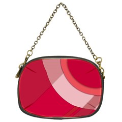 Red Material Design Chain Purses (two Sides)