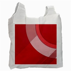 Red Material Design Recycle Bag (two Side)