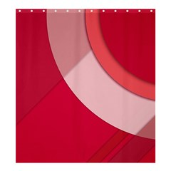 Red Material Design Shower Curtain 66  X 72  (large)