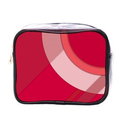 Red Material Design Mini Toiletries Bags