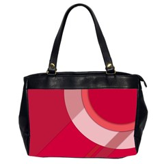 Red Material Design Office Handbags (2 Sides)