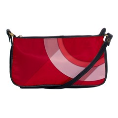 Red Material Design Shoulder Clutch Bags