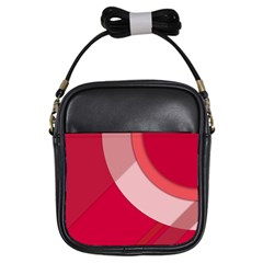 Red Material Design Girls Sling Bags