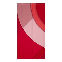 Red Material Design Shower Curtain 36  X 72  (stall)