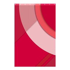 Red Material Design Shower Curtain 48  X 72  (small)