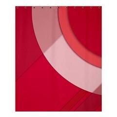 Red Material Design Shower Curtain 60  X 72  (medium)