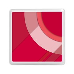 Red Material Design Memory Card Reader (square)