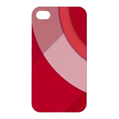 Red Material Design Apple Iphone 4/4s Hardshell Case