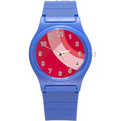 Red Material Design Round Plastic Sport Watch (s)