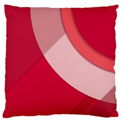 Red Material Design Large Cushion Case (one Side)