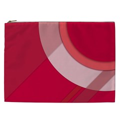 Red Material Design Cosmetic Bag (xxl)