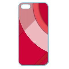 Red Material Design Apple Seamless Iphone 5 Case (color)