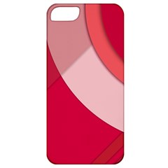 Red Material Design Apple Iphone 5 Classic Hardshell Case