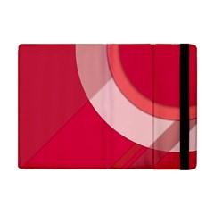 Red Material Design Apple Ipad Mini Flip Case