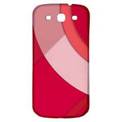 Red Material Design Samsung Galaxy S3 S Iii Classic Hardshell Back Case