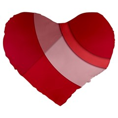 Red Material Design Large 19  Premium Heart Shape Cushions