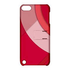 Red Material Design Apple Ipod Touch 5 Hardshell Case With Stand