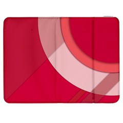 Red Material Design Samsung Galaxy Tab 7  P1000 Flip Case