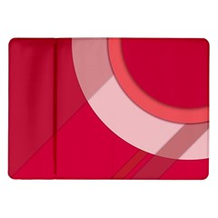 Red Material Design Samsung Galaxy Tab 10 1  P7500 Flip Case