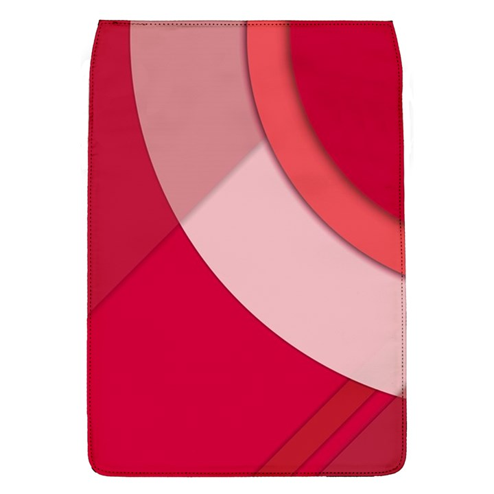 Red Material Design Flap Covers (L)