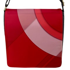 Red Material Design Flap Messenger Bag (s)