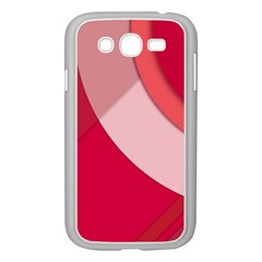 Red Material Design Samsung Galaxy Grand Duos I9082 Case (white)