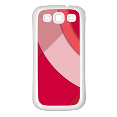 Red Material Design Samsung Galaxy S3 Back Case (white)