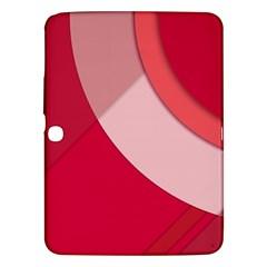 Red Material Design Samsung Galaxy Tab 3 (10 1 ) P5200 Hardshell Case